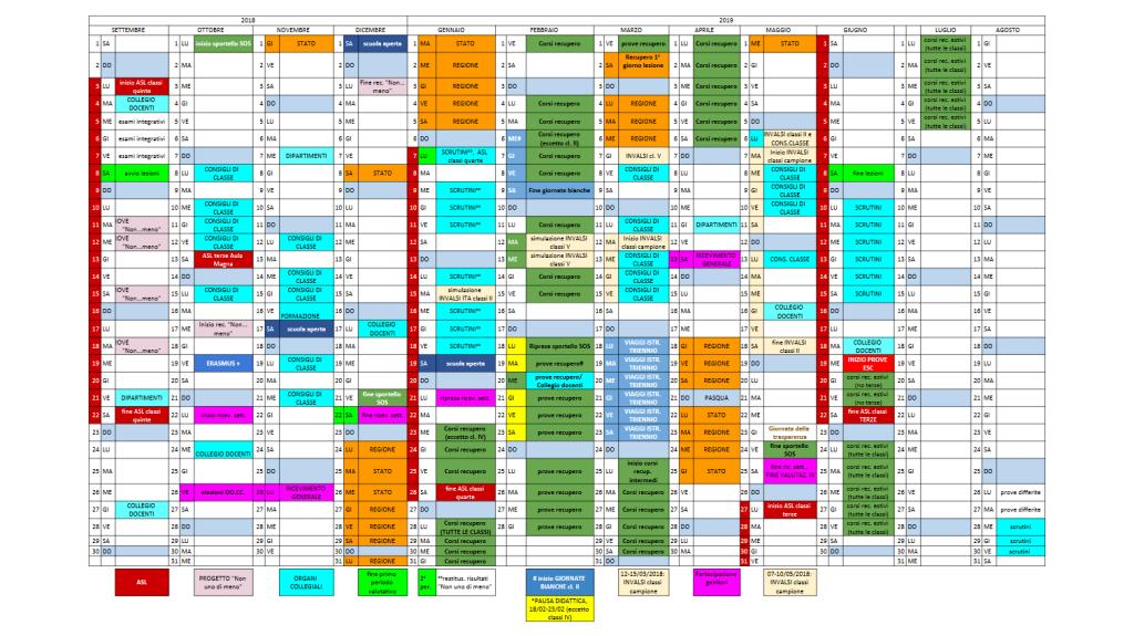 Visualizza Calendario.Calendario